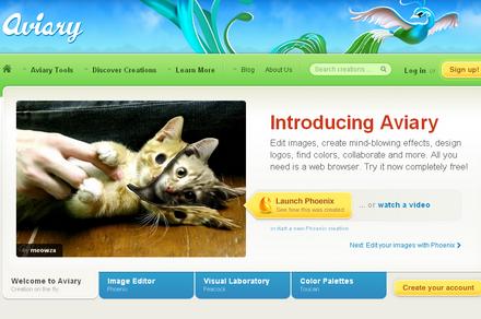 aviary-homepage-screenshot